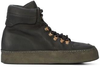 Guidi lace-up platform boots