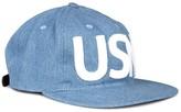 Ebbets Field Flannels Usn Blue Appliquéd Chambray Cap