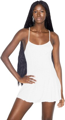 American Apparel Women's Mix Modal Spaghetti Strap Crossback Slip Dress