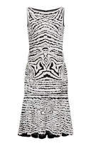Naeem Khan Sequin Embroidered Flared Dress
