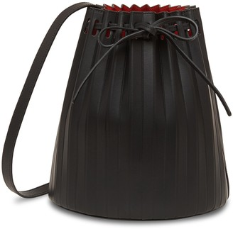 Mansur Gavriel Pleated Bucket Bag - Black