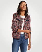 Ann Taylor Textured Tweed Pocket Jacket