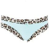 Charlotte Russe Leopard Print Lace-Trim Thong Panties