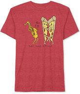 JEM Men's Graphic-Print Sax, Hugs & Pizza T-Shirt