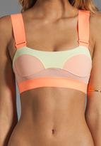 adidas by Stella McCartney Swim Top in Tinted Bliss/Haze Yellow