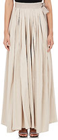 Lanvin WOMEN'S PLEATED LONG BRIDAL SKIRT-IVORY SIZE 42 FR