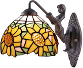 AMORA Amora Lighting AM1074WL08 Tiffany Style SunflowerWall Lamp