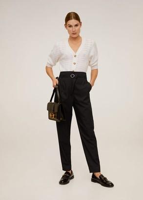 MANGO Belt suit pants black - 2 - Women