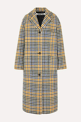 McQ Houndstooth Wool-blend Coat - Ivory