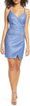 Sequin Hearts Glitter V-Neck Sheath Dress