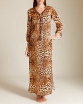 Printed Satin Verushka Long Caftan