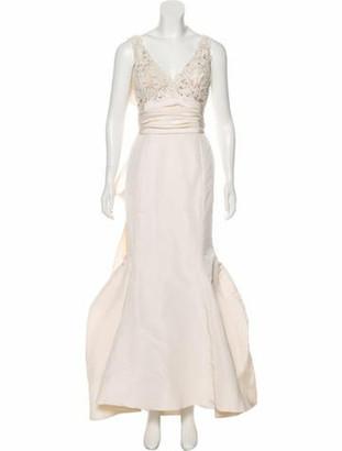 Oscar de la Renta Silk Bridal Gown