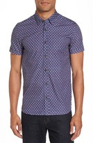 Ted Baker Men's Burstin Extra Slim Fit Print Sport Shirt