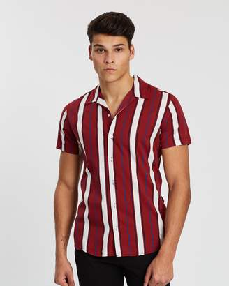 Jack and Jones Wade Stripe Short Sleeve Shirt