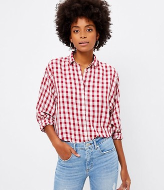 LOFT Gingham Relaxed Shirt