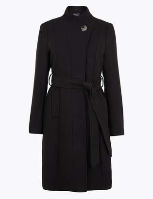 M&S CollectionMarks and Spencer PETITE Belted Wrap Coat