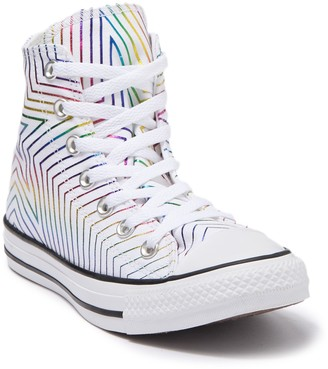 Converse Chuck Taylor All Star Rainbow Metallic High Top Sneaker