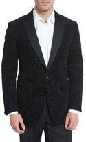 Etro Jacquard Paisley-Print Evening Jacket, Black