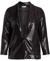 Thumbnail for your product : Joan Vass, Plus Size Classic-Fit Sequin Jacket