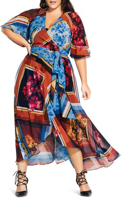 City Chic Golden Rose Maxi Dress