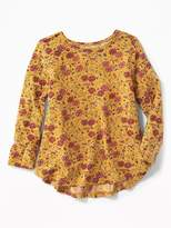 Old Navy Floral Jersey Swing Top for Toddler Girls