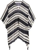 Dolce & Gabbana Striped silk-chiffon coverup