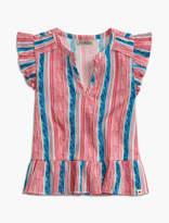 Lucky Brand Stripe Print Flutter Slee