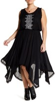 Angie Handkerchief Hem Embroidered Dress (Plus Size)