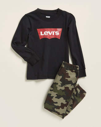 Levi's Boys 4-7) Two-Piece Graphic Tee & Camo Joggers Set