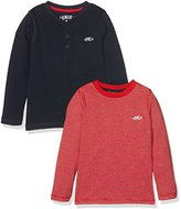 Mothercare Boy's Navy and Stripe - 2 Pack T - Shirt