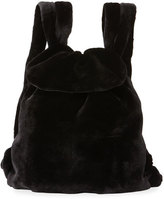 The Row Mink Fur Knapsack Bag, Black