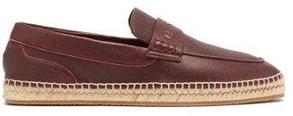 Etro Penny-loafer Leather Espadrilles - Burgundy