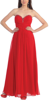 Mayqueen MayQueen Women's Special Occasion Dresses Red - Red Strapless Sweetheart Dress - Women