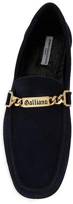 John Galliano Suede Chain Drivers
