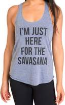 I'm Just Here For The Savasana Yoga Tank Top Racerback for Women by Inner Fire