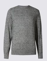 Marks and Spencer Cotton Blend Crew Neck Jumper