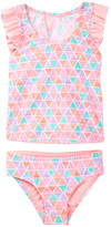 Hula Star Texture Pyramid Two-Piece Swimsuit (Toddler & Little Girls)