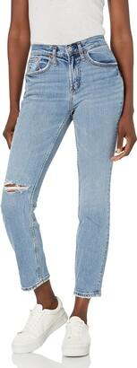 Silver Jeans Co. Women's Not Your Boyfriend's Mid Rise Slim Leg Jeans