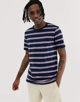 Globe Shift striped t-shirt in lilac and navy