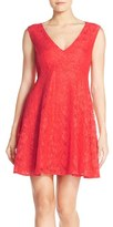 French Connection Women's 'Lizzie' Lace Fit & Flare Dress