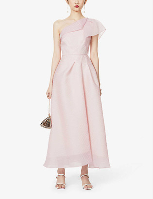 Roland Mouret Ostuni one-shoulder silk-blend midi dress