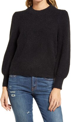Madewell Eaton Puff-Sleeve Pullover Sweater