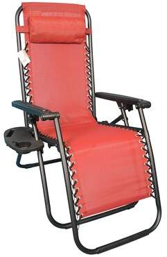Zero Gravity Orrington Folding Chair Freeport Park Color: Red