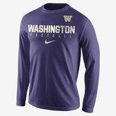 Nike College Practice Football (Washington) Men's Long Sleeve Top