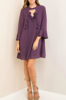 Entro Purple Silky Dress