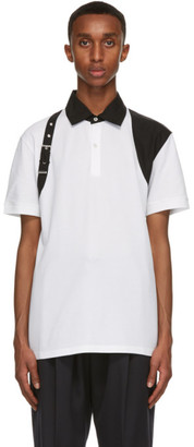 Alexander McQueen White Harness Polo