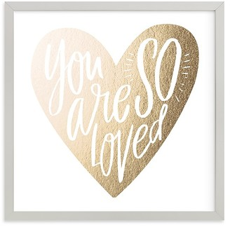 Pottery Barn Kids So Loved Heart Wall Art by Minted