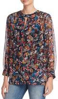Ella Moss Wildflower Print Silk Tunic