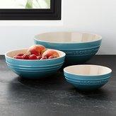 Crate & Barrel Le Creuset ® Caribbean Blue Ceramic Multi Bowls