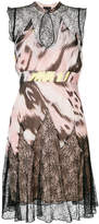 Just Cavalli printed keyhole dress